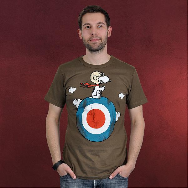Peanuts - Snoopy T-Shirt oliv
