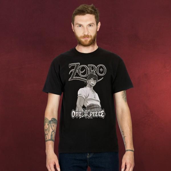 One Piece - Roronoa Zoro T-Shirt schwarz