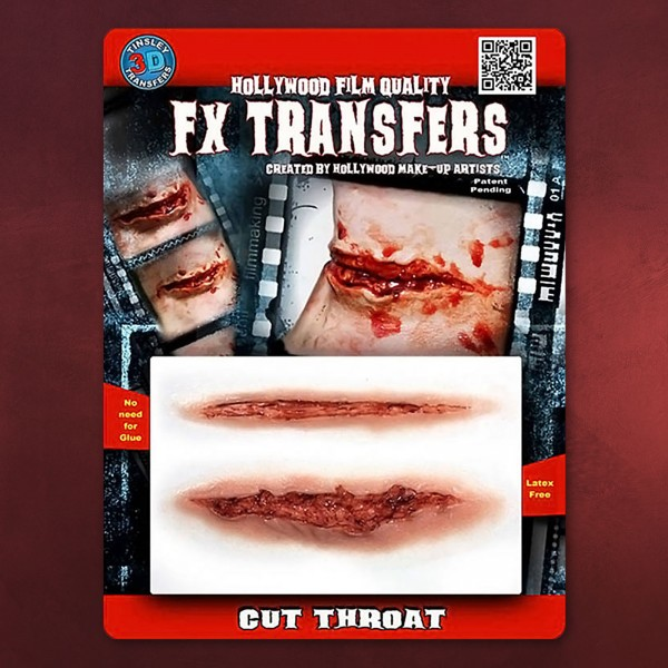 Schnittwunde 3D FX Transfers