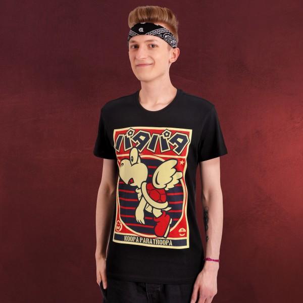 Super Mario - Paratroopa Propaganda T-Shirt schwarz