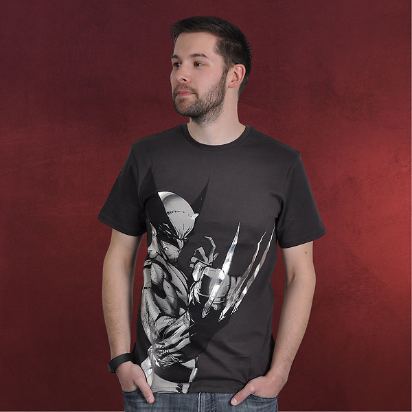 Wolverine Comic T-Shirt anthrazit