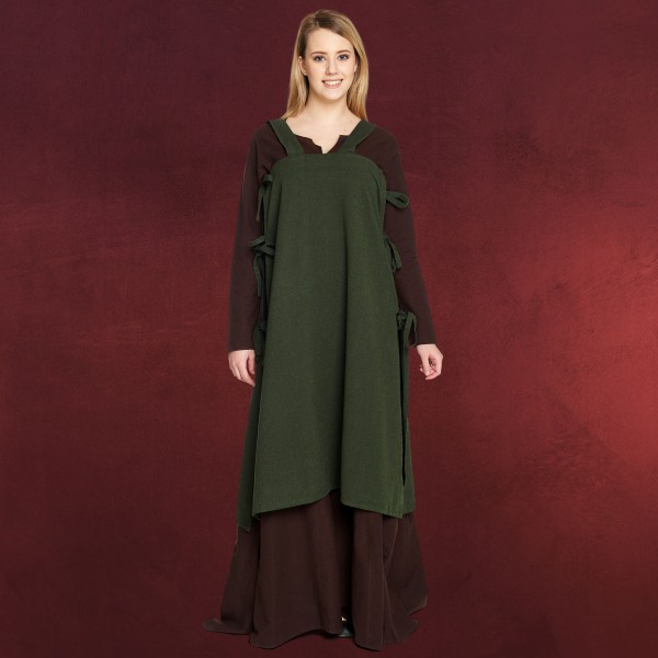 Mittelalter Überkleid Hildegard grün