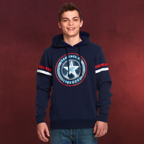 Captain America - Sentinel of Liberty Hoodie blau