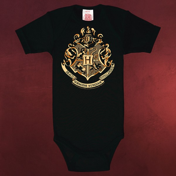 Harry Potter - Hogwarts Wappen Baby Body schwarz