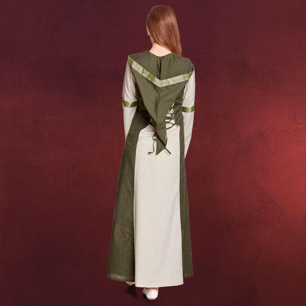 rebecca mittelalter kleid natur-grün | elbenwald