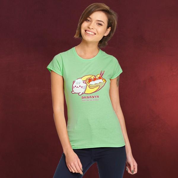 Bananya Split T-Shirt Damen grün