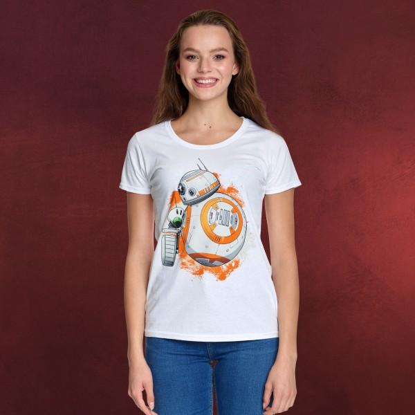Star Wars - Rolling Droids T-Shirt Damen weiß