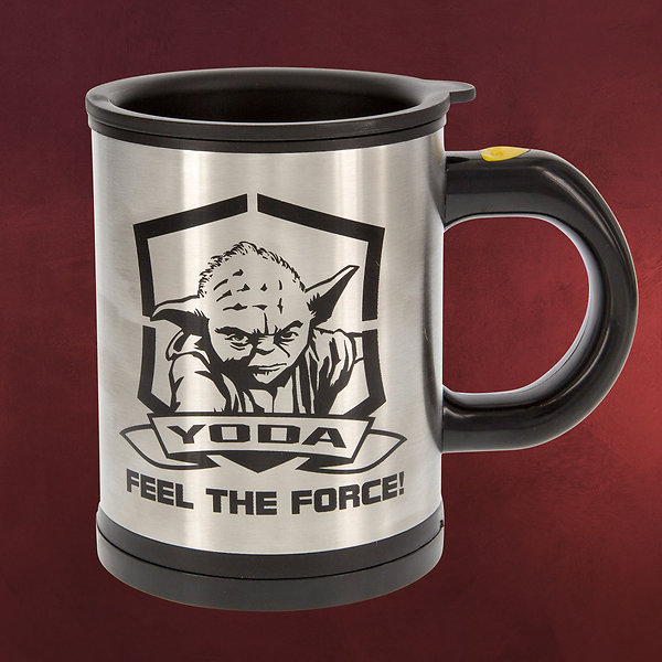 Star Wars - Yoda Thermobecher mit Rührfunktion
