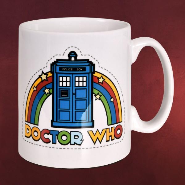 Doctor Who - Tardis Regenbogen Tasse
