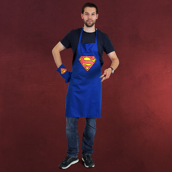 Superman Grillset blau