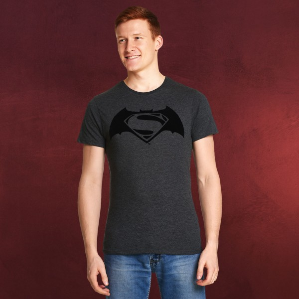 Batman v Superman - Logo T-Shirt grau