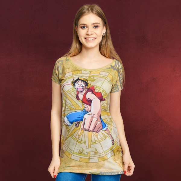 One Piece - Luffy T-Shirt Damen Loose Fit