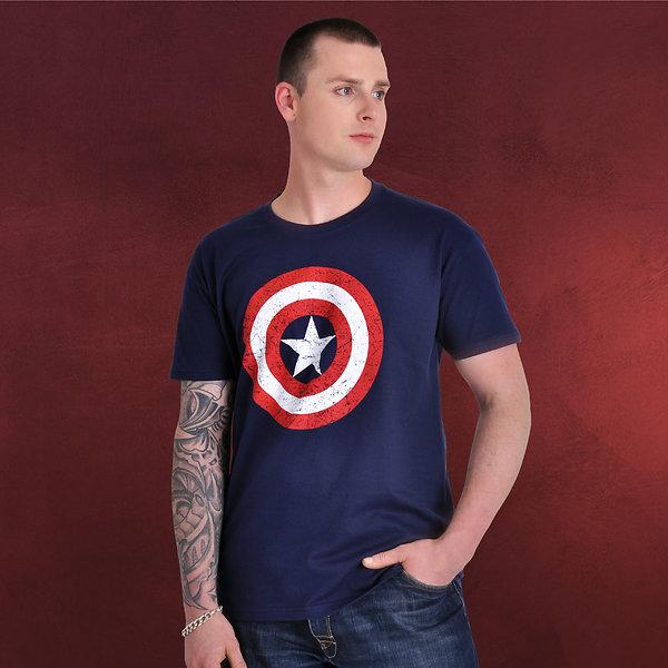 Civil War - Distressed Shield T-Shirt