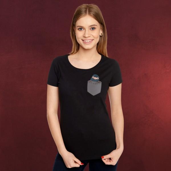 Pocket Niffler - Phantastische Tierwesen T-Shirt Damen schwarz