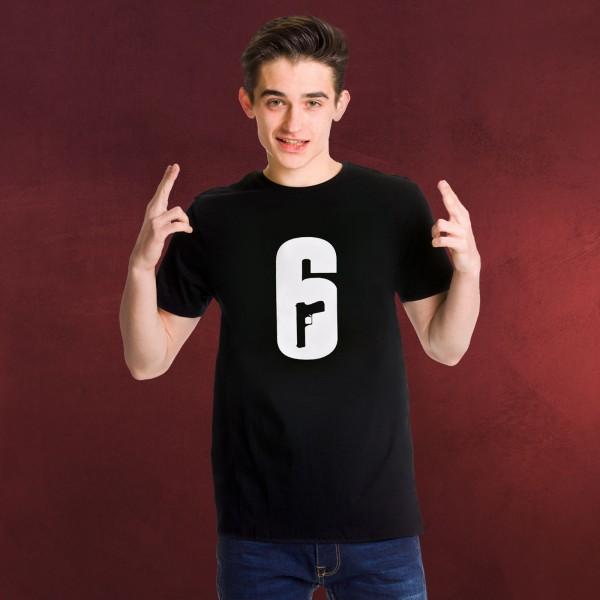 Rainbow Six Siege - Logo T-Shirt schwarz