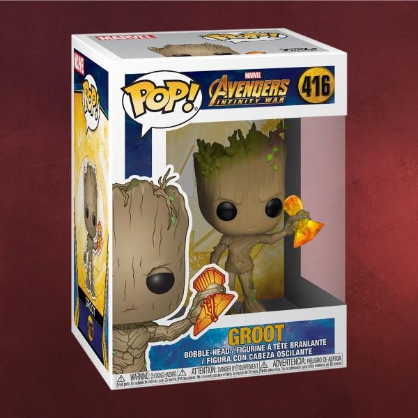Avengers - Groot mit Sturmbrecher Infinity War Funko Pop Wackelkopf-Figur
