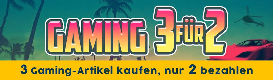 Gaming 3 für 2: Kaufe 3 Gaming-Artikel und bezahle nur 2.