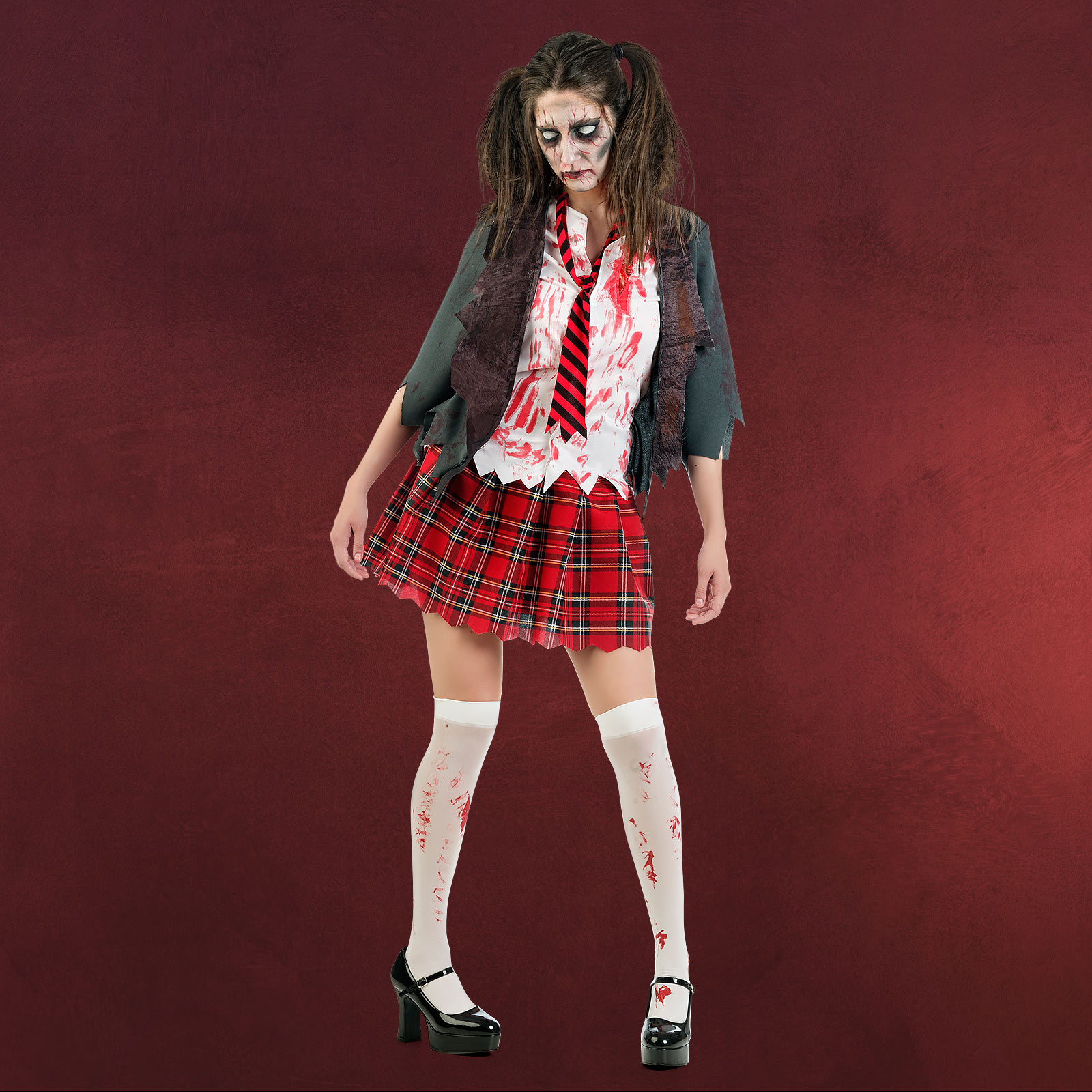 zombie schoolgirl horror kost m elbenwald. Black Bedroom Furniture Sets. Home Design Ideas