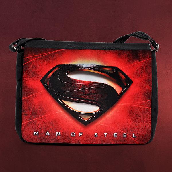 Superman - Man of Steel Logo Tasche rot