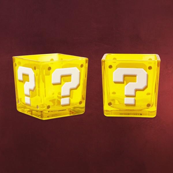 Super Mario - Fragezeichen Block Gläserset